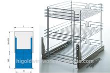 three tier wire kitchen basket