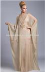 High Quality Wholesale China Champagne Long Sleeve Beaded Evening Muslim Dubai Abaya Arabic Kaftans for 2015 winter