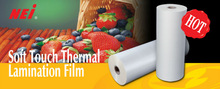 Soft Touch Thermal Lamination Film, smoothness effect,furry feeling,matt,35mic, hot lamination
