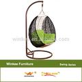 acrílico cadeira de balanço de ferro forjado mobiliário de jardim jardim cadeira de balanço almofada