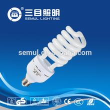 hot sell full spiral cfl light bulbs e27 100w