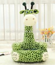 plush giraffe shape baby sofa/lazy sofa/animal shape baby sofa