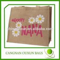 Factory wholesale eco shopping jute bag