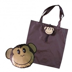190T Polyester Monkey Shaped Foldable Tote Bag