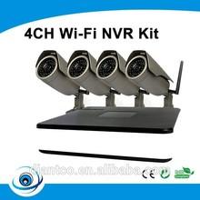 4ch NVR KIT 720P 1.0mp Wireless wifi IP Camera P2PNetwork Surveillance NVR Kits