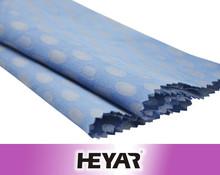 Azul teste padrão de pontos cetim de algodão Jacquard moda tecido do vestido