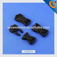 curved plastic side release buckles black metal buckle custom black color metal side release buckle
