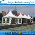 venda quente do pico de alta exposição pagode 10x10m de madeira sistema de piso