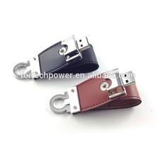 Free sample key chain usb flash drive leather