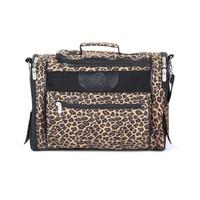 Leopard grain strong luxury pet carrier,pet bag/trolley pet carrier/pet travel bag