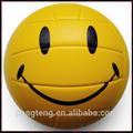 nuevo diseño de sonrisa pvc cosido a máquina de voleibol de la promoción