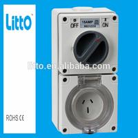IP66 Waterproof Fuction 15 Amps Industrial Socket