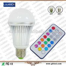 Wifi control RGB bulb light E27 with remote control 10W RGB intelligent bulb light