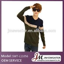 Hombres coreanos de moda ganchillo hicieron punto los suéteres modelos