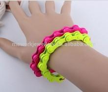 Colorful anodized aluminum bracelet bike chain motorcycle chain bracelet