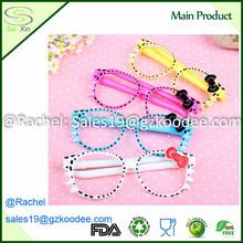 Plastic cute student animal glasses style ballpoint pen for children gift