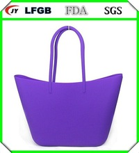 Hot promotion gifts lady used silicone tote bag