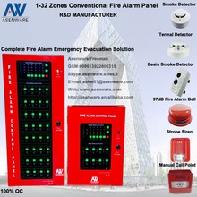 Building Management Security System Conventional Fire Alarm Panel With 8 Zones