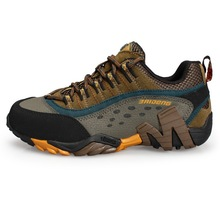 2015 New design and High Quality suede and mesh men cheap hiking shoes