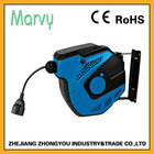 15m auto-rewind cable reel mechanism Europe waterproof plug and socket with 2 pin