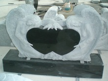 double heart shaped headstone tombstone
