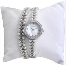 W4793 Fashion Jewelry Pearl Beads Dual Lady's Watch