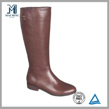 Smooth cow leather provide by china supplier comfort knee lady knee boot