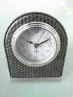 Hot selling Leathery alarm table clock for hotel decor