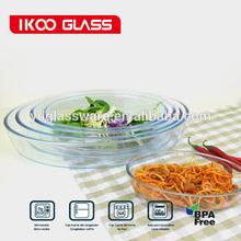 1.6L oval borosilicate glass baking dish