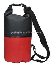 Bi-color 500D PVC tarpaulin dry camping bag 100% waterproof
