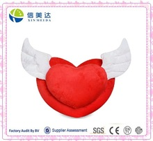 New Product for Valentine's Day White Angel Wings Red Lover Heart Plush Toy