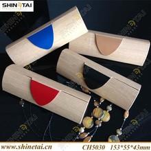 Triangle Shape Wood Grain PU Leather Eyewear Cases(100% hand made)