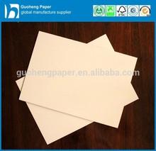 Custom Size Paper Board White Coated Duplex Board Grey Back