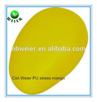 10x6x4.5cm customized PU anti stress mango/promotional gifts PU mango shape stress ball/kids toys soft PU foam anti stress mango