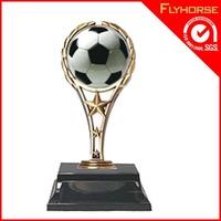 Football world cup sports glass award replica crystal trophy