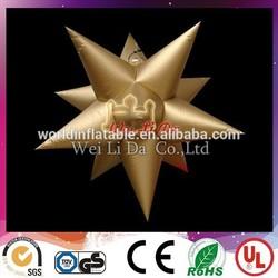 Golden Handing best PVC Light inflatable star for sales