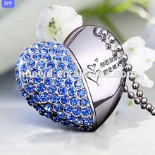 Christmas Wonderful Gift Diamond Heart Usb,Heart Shaped Usb Flash