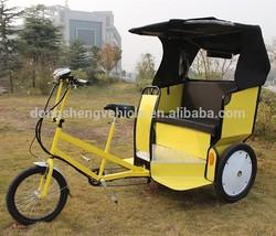 three wheels passenger tourist rickshaw electric passenger taxi tricycle