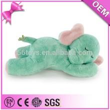 Custom sleeping elephant soft toys, stuffed plush animals, plush baby toys