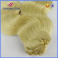 613 blonde hair weave,blonde human hair weave,virgin Russian hair extension