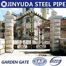 Remote control wrought iron gates garden gate