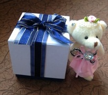 fancy paper gift box with ribbon manufacturer directly
