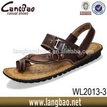 2015 best quality men leather sandal factory sale