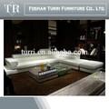 de alto lujo moderno sofá de cuero blanco muebles