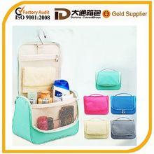Waterproof nylon travel hanging cosmetic bag organizer