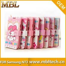 Cartoon figure TPU mobile phone accessories for samsung note 3 case