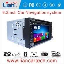 6.2 inch 2 din auto audio system car dvd multimedia player