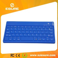 quiet bluetooth wireless silicon keyboard for android IOS tablet