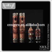2014 NRX design patent wooden family e cigarette wooden carved x gun