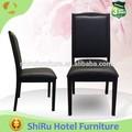 In pelle nera in alluminio imitazione legno sedia(di fabbrica)